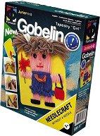 """Направи сам гоблен без игла - Момиче с къдрава коса - Творчески комплект от серията """"Gobelin"""" - творчески комплект"""