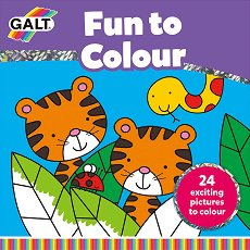 Galt: Забавни картинки - книжка за оцветяване : Fun to Colour Book -