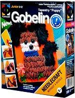 """Направи сам гоблен без игла - Кученце териер - Творчески комплект от серията """"Gobelin"""" - творчески комплект"""