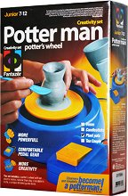 """Създай сам с грънчарско колело - Саксии - Творчески комплект с глина от серията """"Potter man"""" -"""