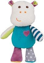 Хипопотамчето Мики - Бебешка плюшена играчка -
