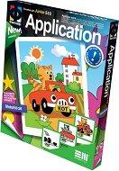 """Създай сам апликация без ножица и лепило - Коте шофьор - Творчески комплект от серията """"Aplication"""" - творчески комплект"""