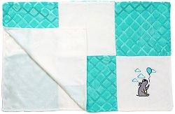 Детско микрофибърно одеяло - Patchwork - Размер 75 x 100 cm - продукт