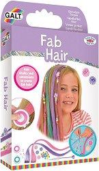 Аксесоари за коса - Модерна прическа - Комплект от тебешири за коса, мъниста и цветни кичури - крем