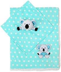 Бебешко одеяло с играчка за гушкане - Коала - Размери 75 x 100 cm - продукт