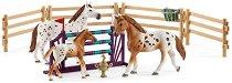 """Турнир по конен спорт на Лиса - Комплект фигури и аксесоари от серията """"Клуб по езда"""" -"""