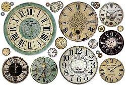 Декупажна хартия - Часовници - Размери 50 x 35 cm