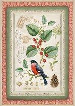 Декупажна хартия - Птица на клонче - Формат А4