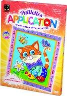 """Създай сам 3D апликация с пайети - Забавно коте - Творчески комплект от серията """"Paillettes Aplication"""" -"""