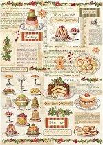 Декупажна хартия - Коледни сладкиши - Формат А4