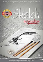 Скицник за графика - Формат А4, 20 листа с карни за оцветяване