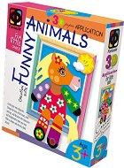 """Създай сам 3D апликация в рамка с пайети - Пони - Творчески комплект от серията """"Funny Animals Aplication"""" - творчески комплект"""