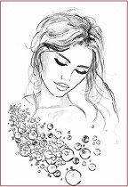 Декупажна хартия - Портрет на жена - Формат А4