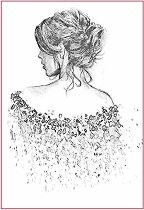 Декупажна хартия - Жена - Формат А4