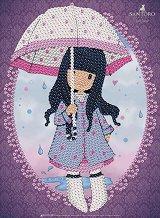 """Декорирай сама с пайети - Puddles Of Love - Творчески комплект от серията """"Gorjuss"""" - творчески комплект"""