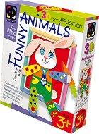 """Създай сам 3D апликация в рамка с пайети - Зайче - Творчески комплект от серията """"Funny Animals Aplication"""" - творчески комплект"""
