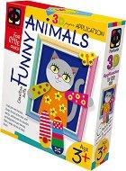"""Създай сам 3D апликация в рамка с пайети - Коте - Творчески комплект от серията """"Funny Animals Aplication"""" - творчески комплект"""
