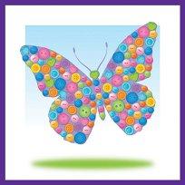 Декорирай сама с копчета - Пеперуда - Творчески комплект - играчка