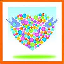 Декорирай сама с копчета - Сърце - Творчески комплект - творчески комплект