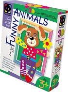 """Създай сам 3D апликация в рамка с пайети - Кученце - Творчески комплект от серията """"Funny Animals Aplication"""" - творчески комплект"""