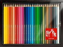 Цветни акварелни моливи - Swisscolor - Комплект от 30 цвята в дървена кутия