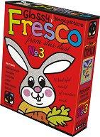 """Създай сам картина с цветен брокат - Зайче - Творчески комплект от серията """"Glossy Fresco"""" -"""