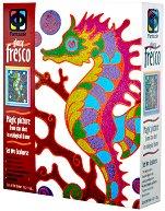 Създай сам картина с цветен брокат - Морско конче - творчески комплект