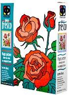 Създай сам картина с цветен брокат - Рози - творчески комплект