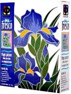 """Създай сам картина с цветен брокат - Ириси - Творчески комплект от серията """"Glossy Fresco"""" - творчески комплект"""