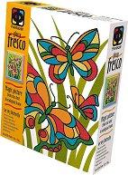 """Създай сам картина с цветен брокат - Пеперуди - Творчески комплект от серията """"Glossy Fresco"""" - творчески комплект"""