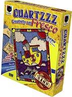 """Оцветявай с цветен пясък - Малък параход - Творчески комплект от серията """"Glossy Fresco"""" -"""