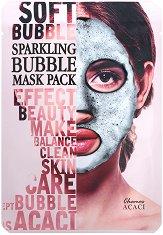 """Chamos Acaci Sparkling Bubble Mask Pack - Детоксикираща бълбукаща маска за лице от серията """"Acaci"""" - крем"""