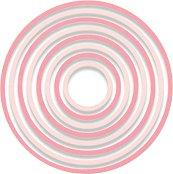 Щанци за машина за изрязване и релеф - Концентрични кръгове - Комплект от 8 броя с диаметър от 3.2 до 10.8 cm