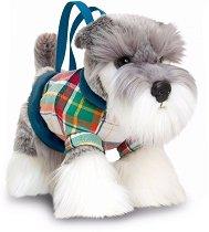 Плюшена чанта кученце - Шнауцер -