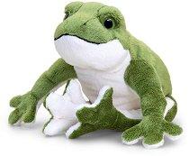 Жаба - Плюшена играчка със звук -