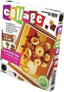 """Създай сам колаж без ножица и лепило - Цветя - Творчески комплект от серията """"Collage"""" - творчески комплект"""