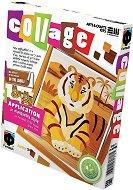 """Създай сам колаж без ножица и лепило - Тигър - Творчески комплект от серията """"Collage"""" -"""