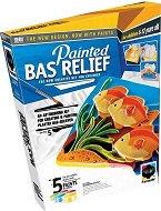 """Създай и оцвети барелефно пано - Морско дъно - Творчески комплект от серията """"Painted Bas Relief"""" -"""