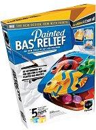 """Създай и оцвети барелефно пано - Риби - Папагали - Творчески комплект от серията """"Painted Bas Relief"""" - творчески комплект"""