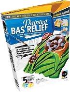 """Създай и оцвети барелефно пано - Прекрасна градина - Творчески комплект от серията """"Painted Bas Relief"""" -"""