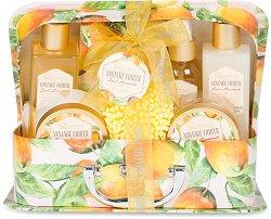 IDC Institute Vintage Fruits Sweet Lemonade - Подаръчен комплект с козметика за тяло с аромат на лимонада - продукт