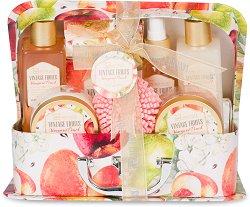 IDC Institute Vintage Fruits Vineyard Peach - Подаръчен комплект с козметика за тяло с аромат на праскова -