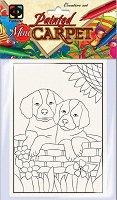 """Оцвети сам декоративно килимче - Кученца - Творчески комплект с флумастери от серията """"Carpets Painting"""" -"""
