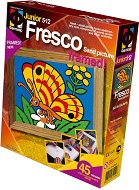 """Създай сам картина с цветен пясък - Пеперуда - Творчески комплект от серията """"Fresco Frame"""" - играчка"""