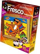 """Създай сам картина с цветен пясък - На плажа - Творчески комплект от серията """"Fresco Frame"""" -"""