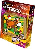 """Създай сам картина с цветен пясък - Кравичка на паша - Творчески комплект от серията """"Fresco Frame"""" -"""