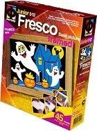 """Създай сам картина с цветен пясък - Призрачна нощ - Творчески комплект от серията """"Fresco Frame"""" - играчка"""