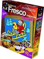 """Създай сам картина с цветен пясък - Весела коледа - Творчески комплект от серията """"Fresco Frame"""" -"""