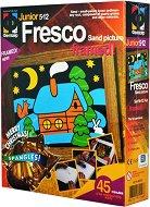 """Създай сам картина с цветен пясък - Коледна хижа - Творчески комплект от серията """"Fresco Frame"""" -"""