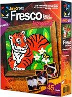 """Създай сам картина с цветен пясък - Тигър - Творчески комплект от серията """"Fresco Frame"""" - играчка"""